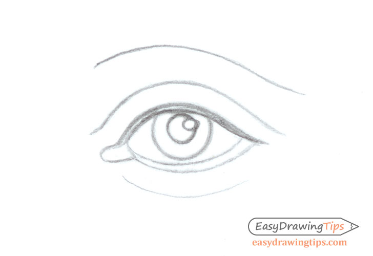 Eye outline drawing