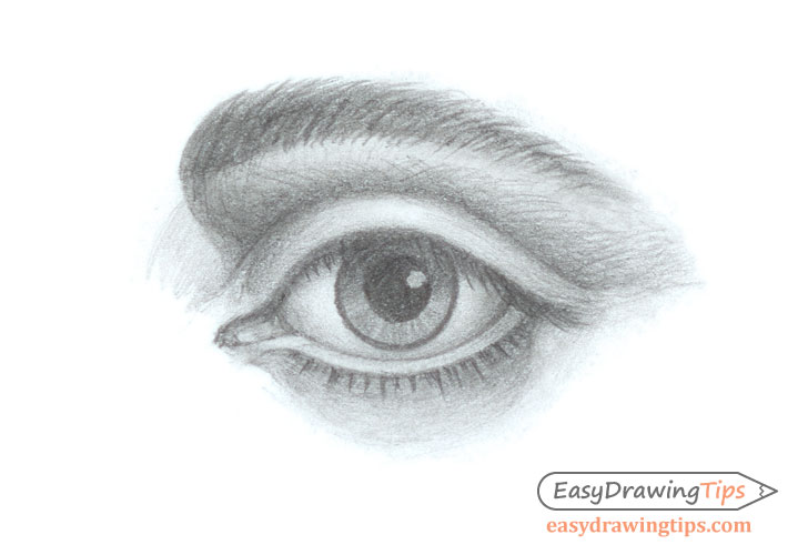 Shaded eye drawing