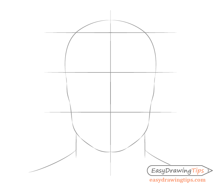 Male face proportions drawing