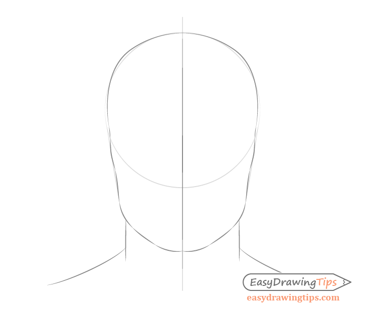 Male head shape drawing