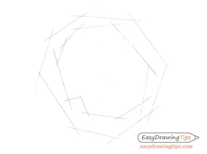 Rose inner shape sketch