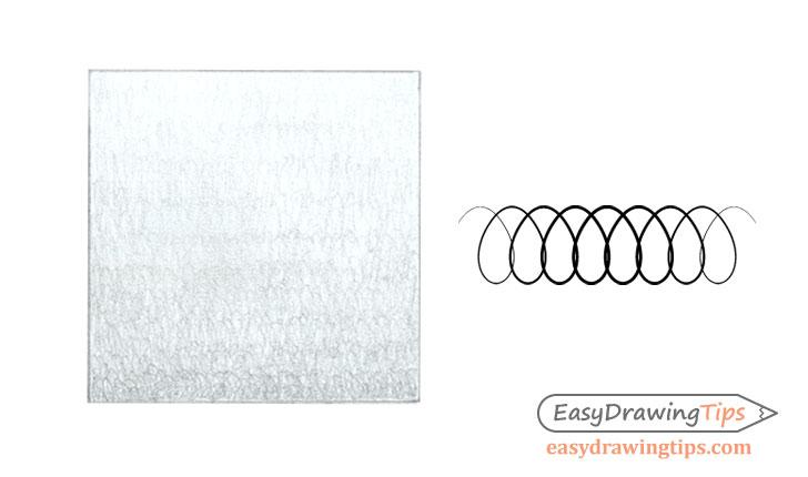 Circular stroke pencil shading