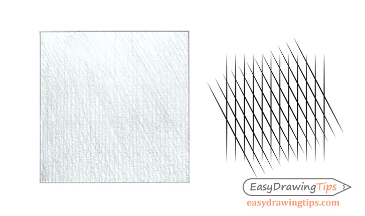 Crosshatch stroke pencil shading