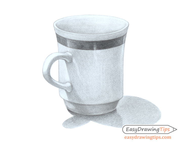 Cup pencil shaded drawing