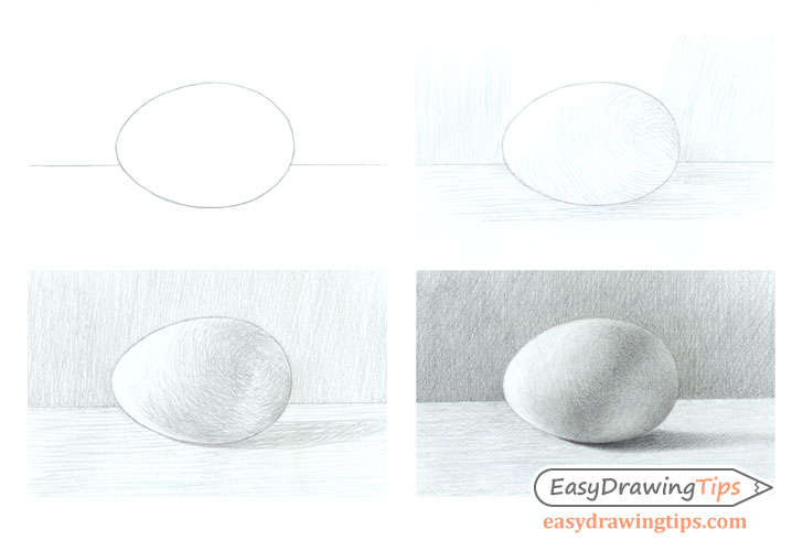 Egg shading step by step