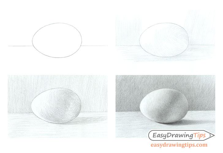 egg step by step basic shading tutorial easydrawingtips
