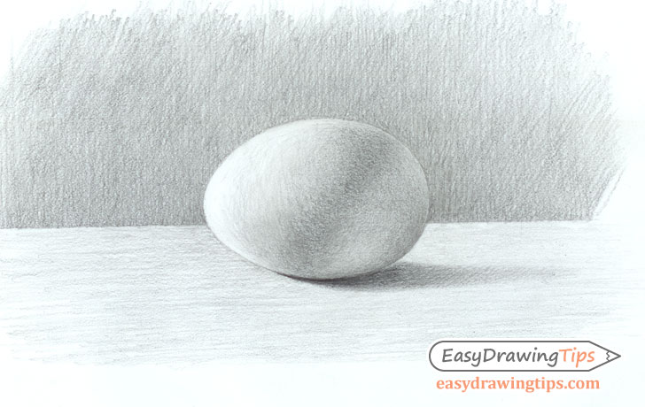 Shaded egg drawing