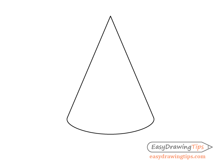 Cone perspective drawing