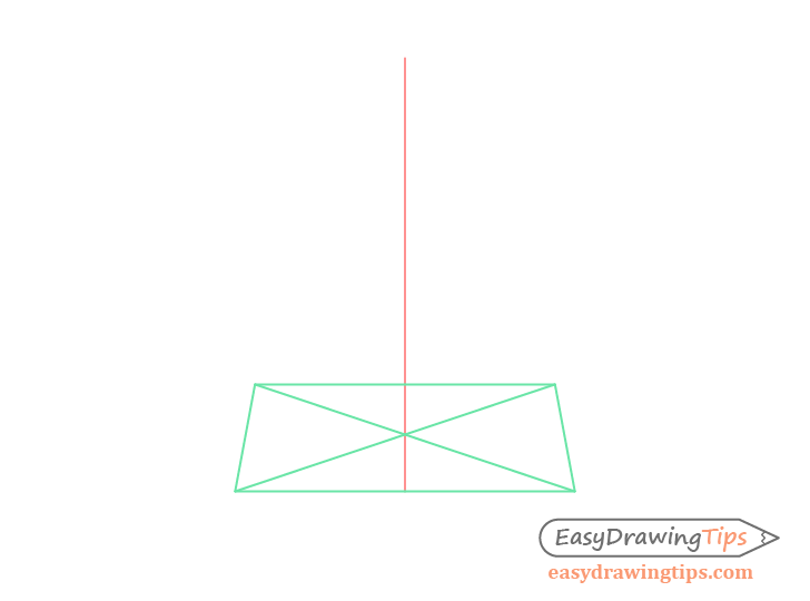 Cone perspective horizontal center drawing