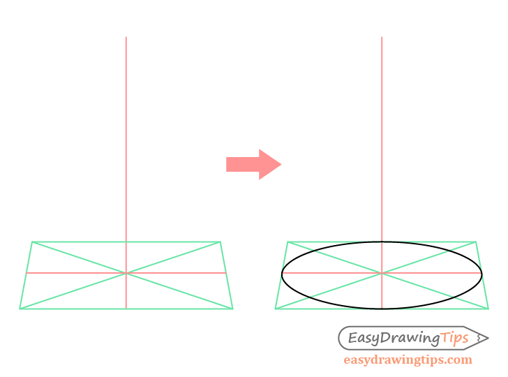 Cone perspective round base drawing
