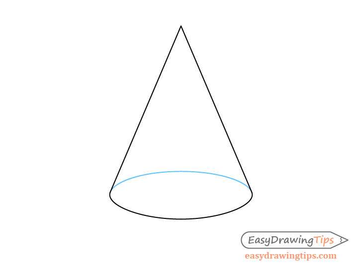 Cone see though perspective drawing