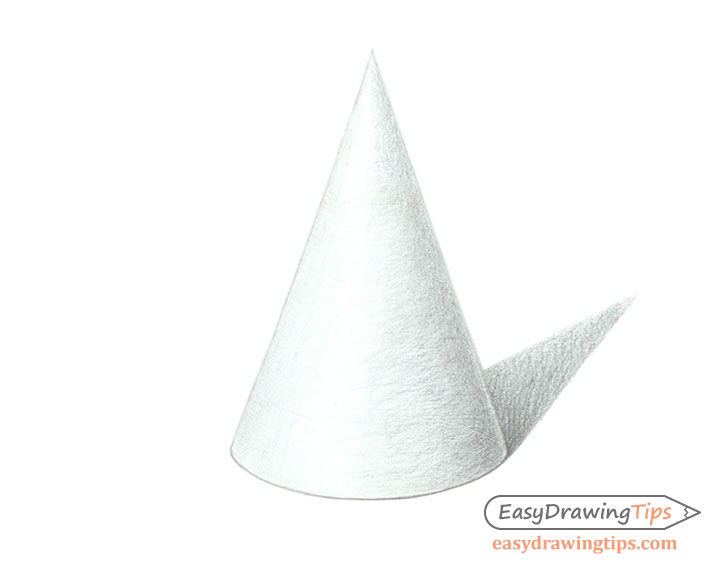 Shaded cone drawing