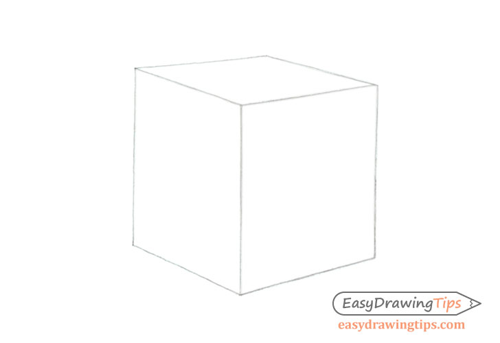 Cube line drawing
