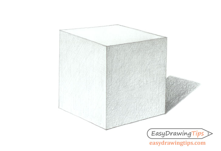 Shaded cube drawing