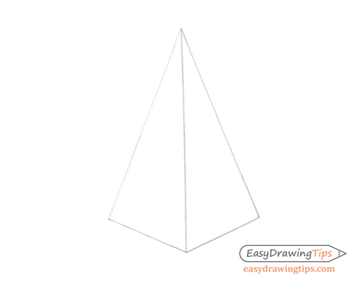 Pyramid line drawing