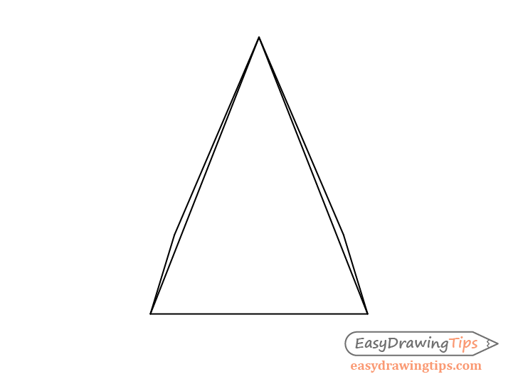 Pyramid one point perspective line drawing
