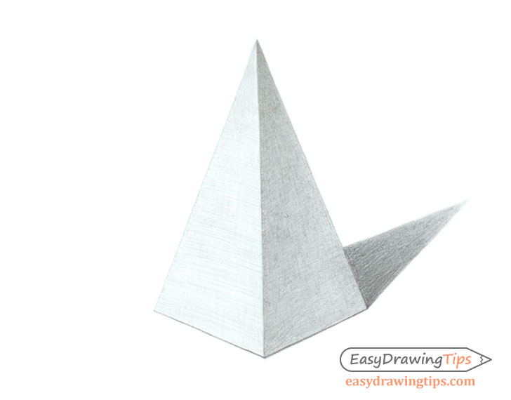 Shaded pyramid drawing