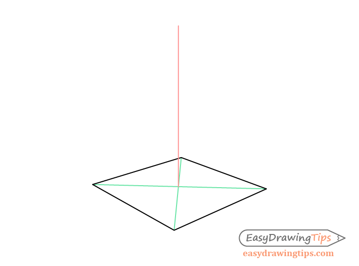 Pyramid two point perspective drawing height