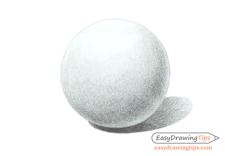 Shaded sphere drawing