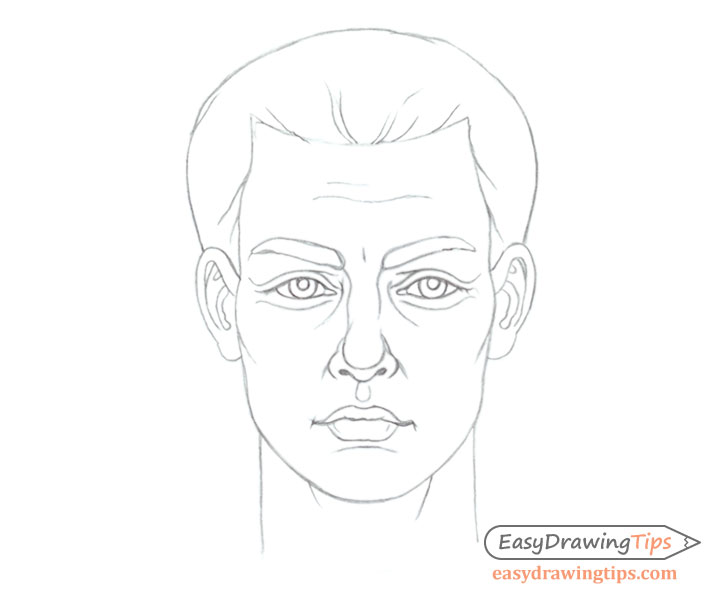 Adult man's face drawing