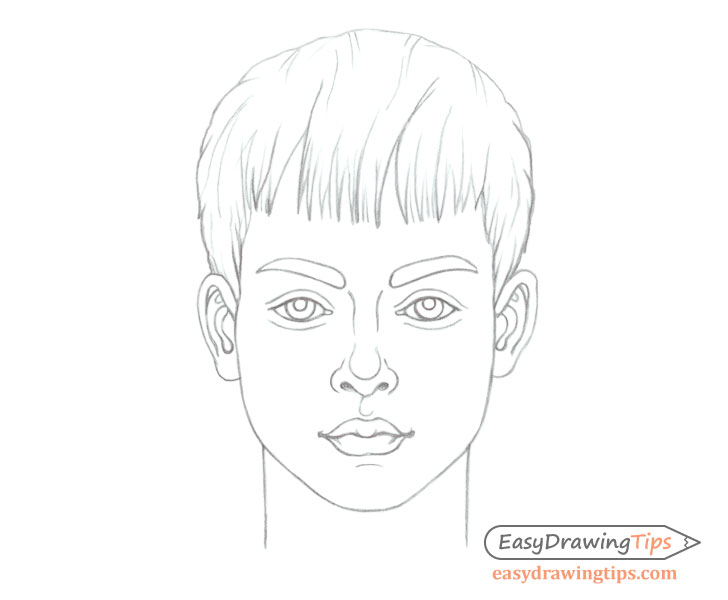 Boy's face drawing