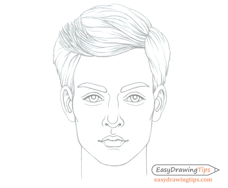 Young man's face drawing