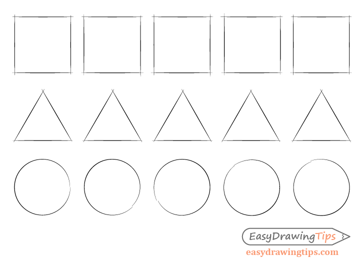 Basic shape drawing exercises
