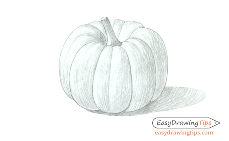 Pumpkin drawing basic shading