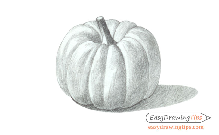 Pumpkin drawing shading