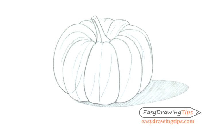 Pumpkin drawing shading lines