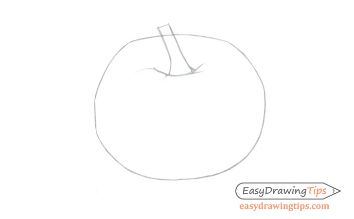 Pumpkin shape drawing
