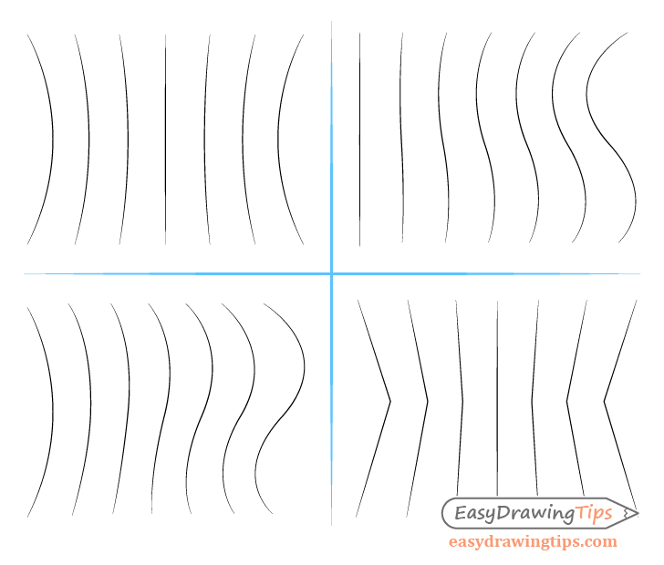 Transitioning line drawing exercises