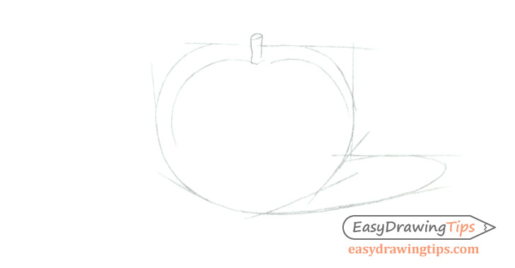 Tomato shape drawing