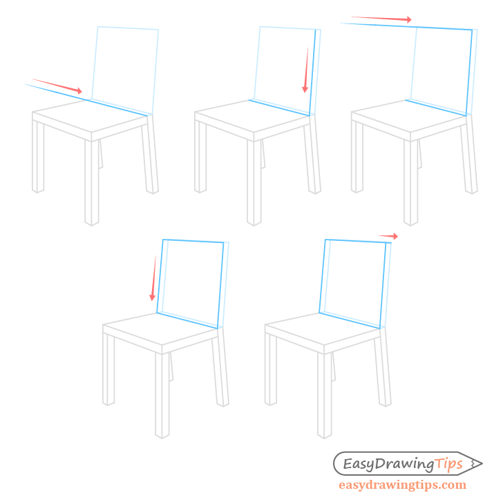 Chair backrest construction drawing step by step