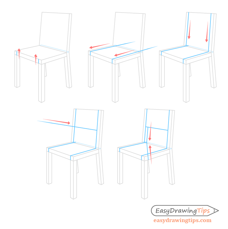 Chair backrest drawing step by step