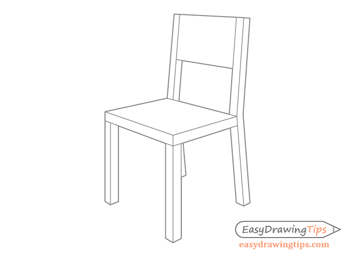 Chair drawing in perspective