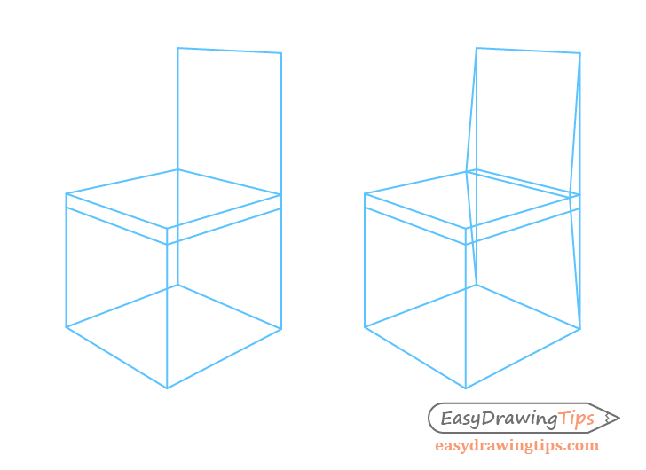 Chair perspective backrest construction drawing