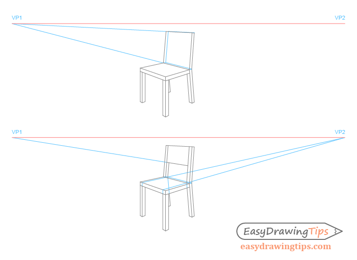 Chair perspective drawing