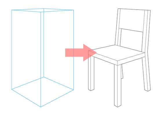 Chair perspective drawing tutorial