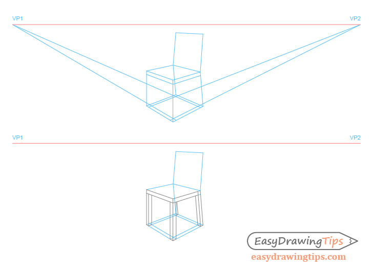 Chair perspective legs drawing