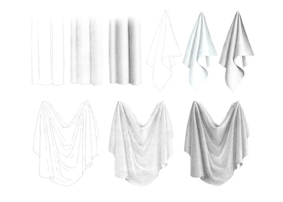 Cloth folds drawing tutorial
