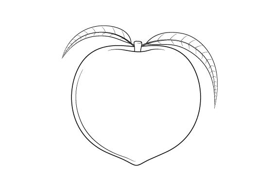 Peach drawing tutorial