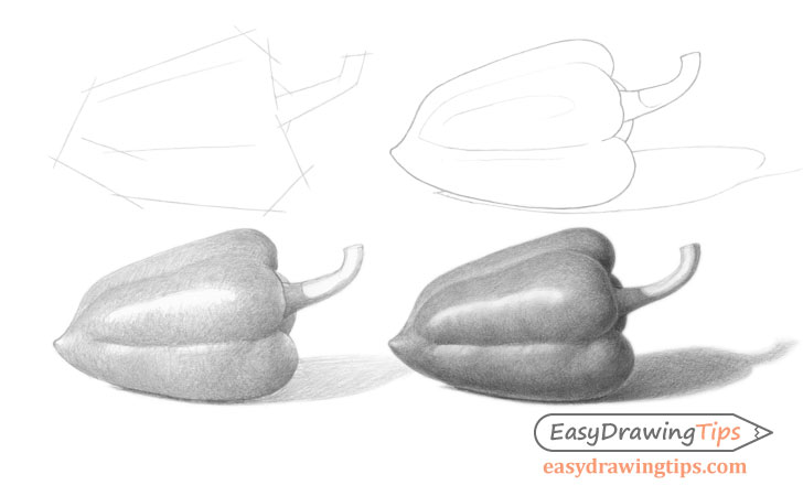 Pepper drawing step by step