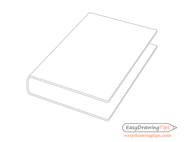 Book cover rounded corners drawing