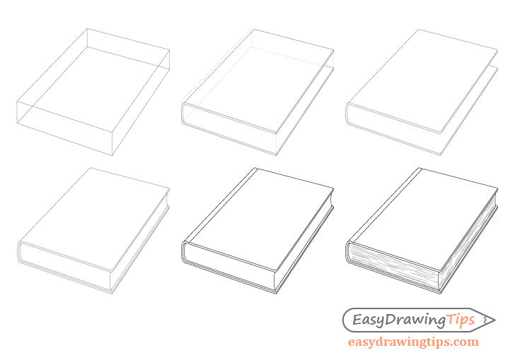 Book drawing step by step