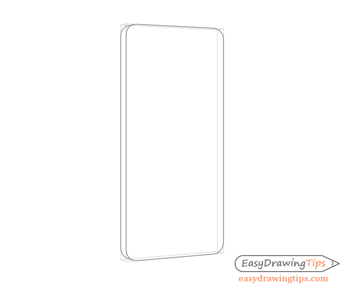 Phone rounded corners drawing