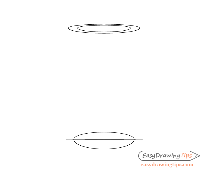 Coffee cup inner lid shape drawing