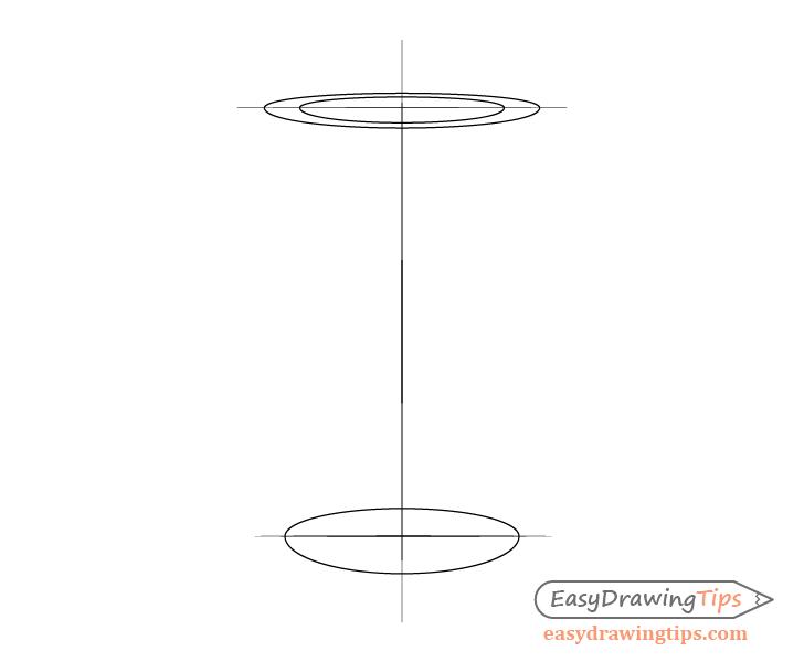 Coffee cup inner lid shape drawing