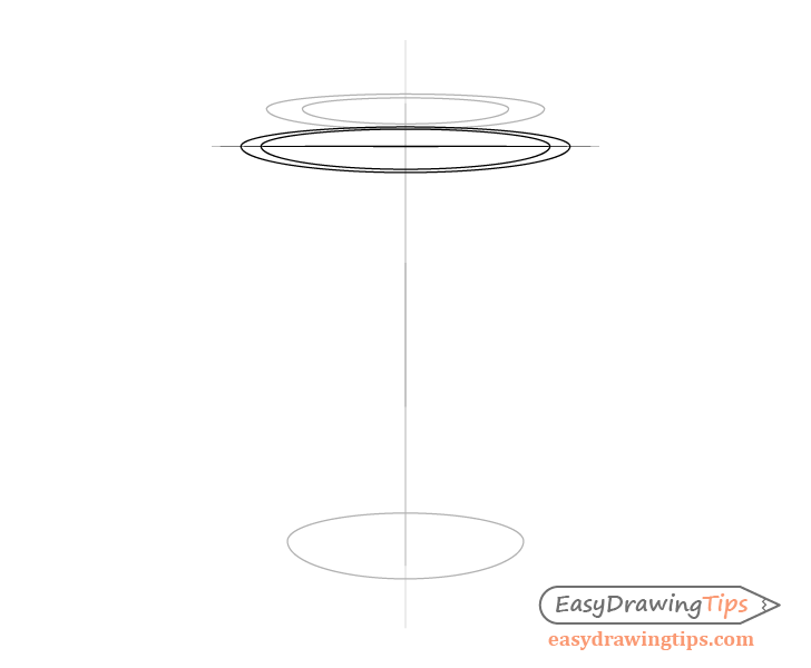 Coffee cup lid rim top drawing