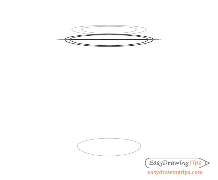 Coffee cup lid rim top drawing